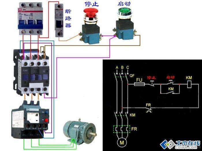 接触器联锁正反转控制线路故障检修方法正转控制:按下正转按钮sb1