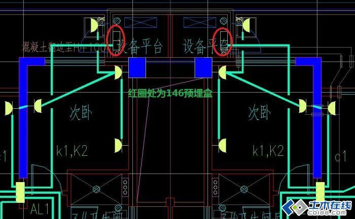 作为水电施工方按照设计图纸将146盒子配管预埋在百叶窗的位置,现在二