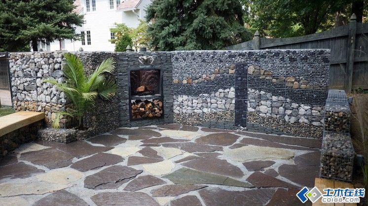 高颜值景观设计元素 · 石笼景墙锦集