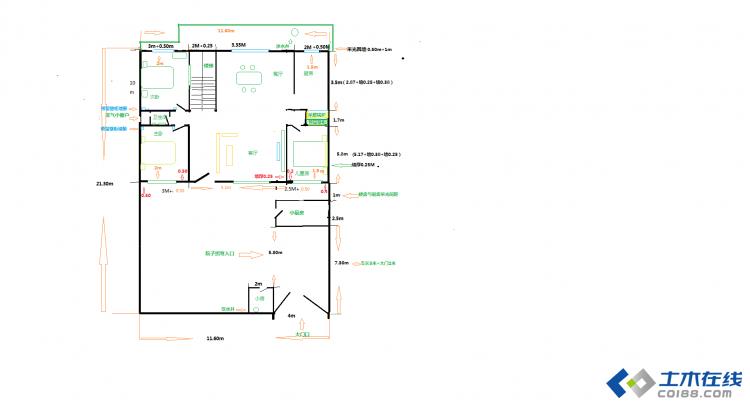6米x11米房屋设计图纸