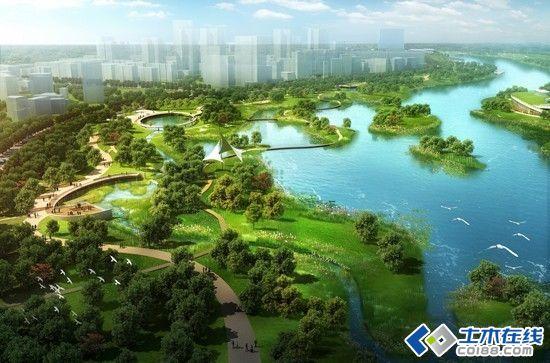 卷 青城流彩 内蒙古呼和浩特小黑河景观设计图片