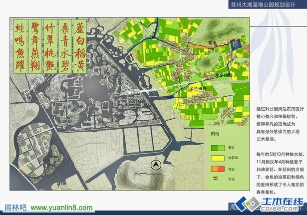 太湖湿地公园规划设计平面图效果图