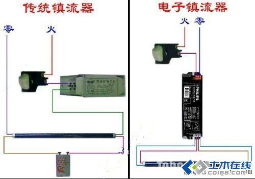 电子镇流器日光灯接线图图片http://bbsfile.co188