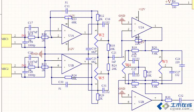 请求各位大师指点m65831混响电路
