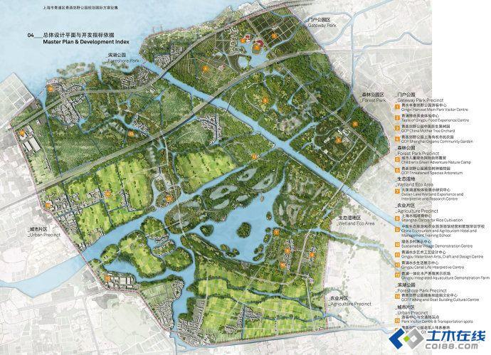 园林绿化 景观规划设计 上海市青浦区青西郊野公园规划国际方案