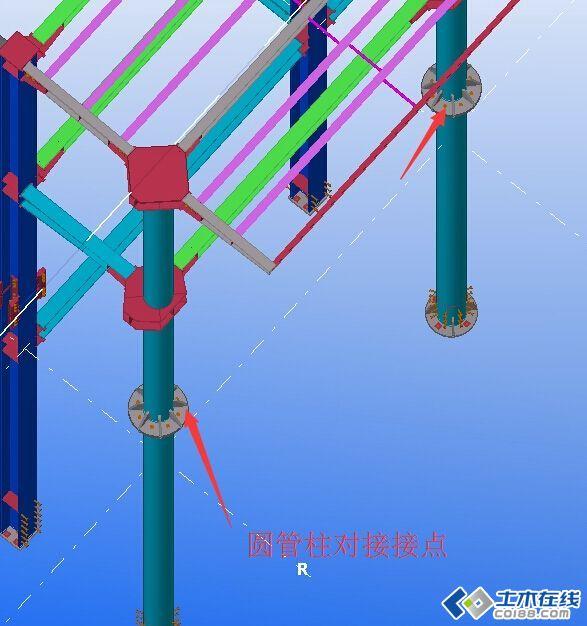 建筑结构 钢结构 圆管柱工地拼接问题~看图