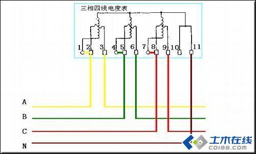 带互感器三相四线电表接线图接线方法图片http://bbs