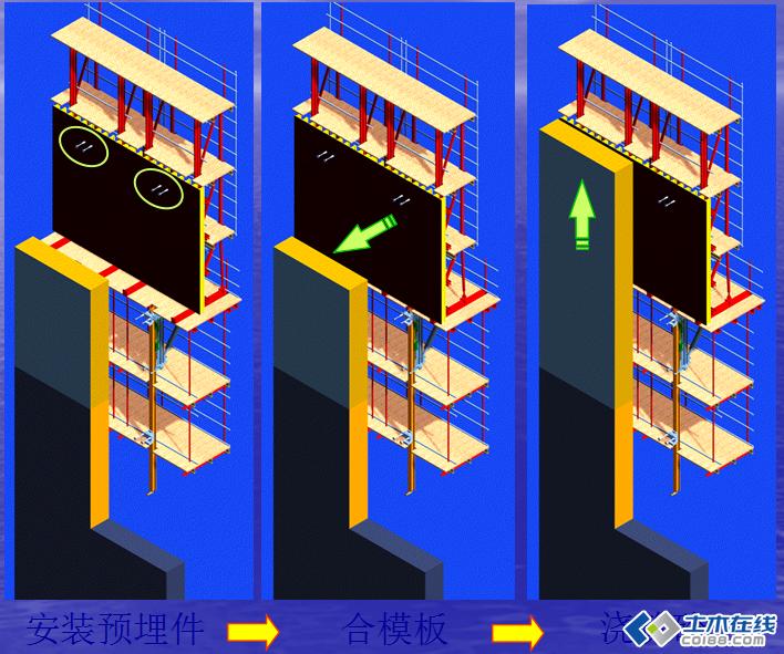 高层液压自爬模施工技术图片