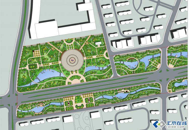 某滨水景观设计平面图