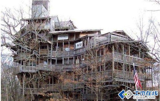 纯木结构建筑共有10层楼高图片http