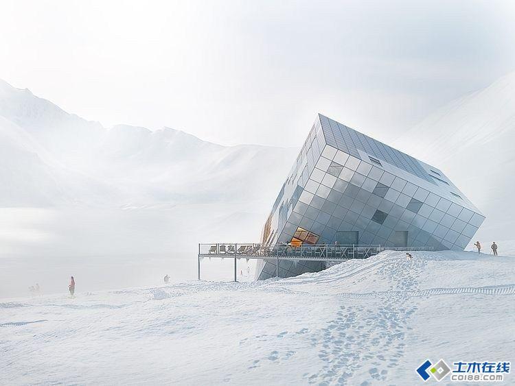 倾斜的立体魔方创意建筑设计欣赏图片http://bbsfile