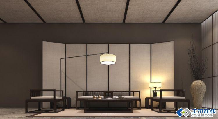 设计   新中式豪华别墅样板房装修设计   简约的新中式室内装