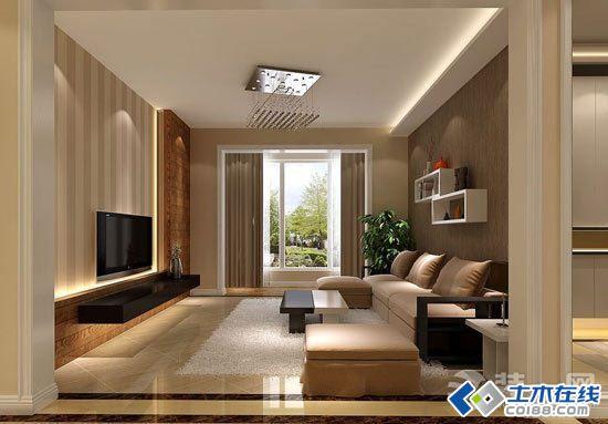 客厅石膏板电视背景墙效果图