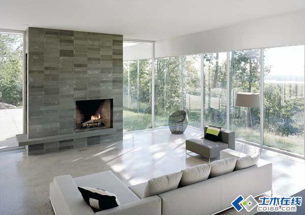 豪华的全景玻璃设计:catskill山坡别墅图片http