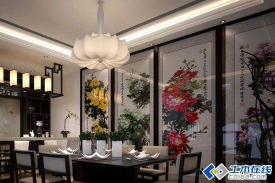 其实这款餐厅并不是因为其墙上的雅字而雅,而是因为其装修。若隐若现的中式氛围,怎能让人不爱?   中式风格的背景墙并不需要太浓厚的装饰,有时往往一幅简单的挂画,就能很好地体现了这种美。欣赏完上面的中式风格餐厅背景墙装修效果图,热爱中式风格的你,是不是很心动呢?