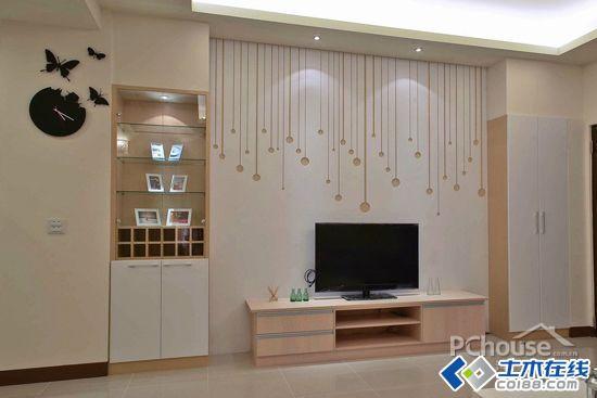 简约小客厅电视墙装修效果图欣赏