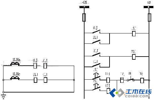 电流继电器接线图