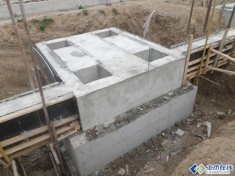 飞机维修机库主体结构施工照片