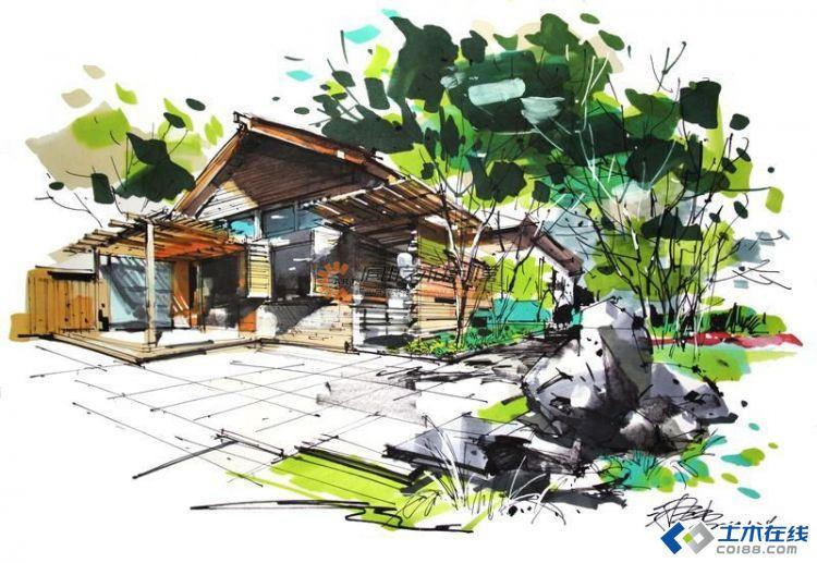 建筑马克笔手绘 -- 大师表现图片http://bbsfile
