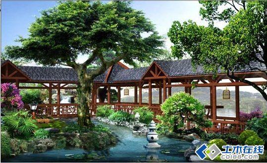 别墅花园设计效果图-土木在线论坛