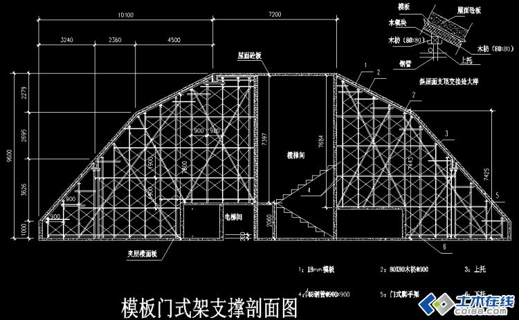 高层住宅楼斜屋面高支模施工方案