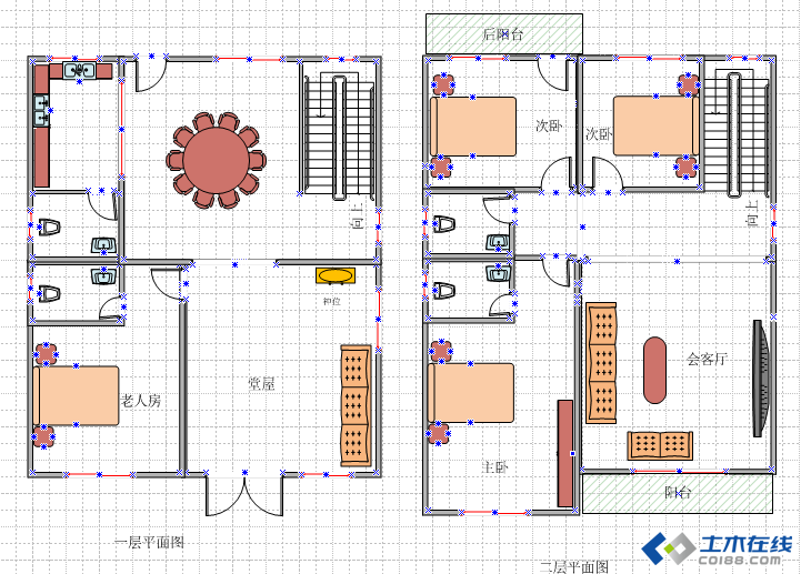 120平方建房设计图图片