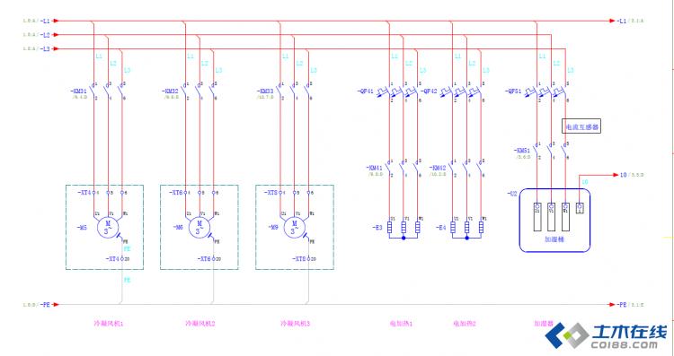 空调控制主回路,如何设置断路器?