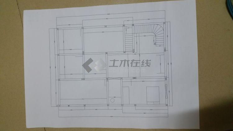 二层半农村自建房的平面图