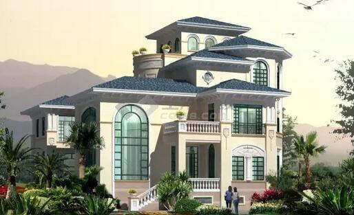三层农村别墅预览图 你想要的最新农村别墅效果图