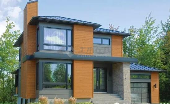 农村别墅三层120平米带车库轻钢别墅图纸