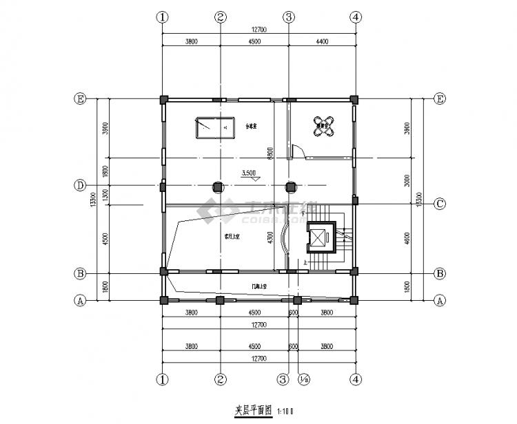 夹层平面图