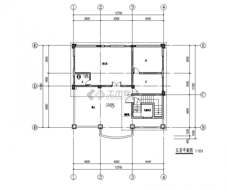 五层平面图