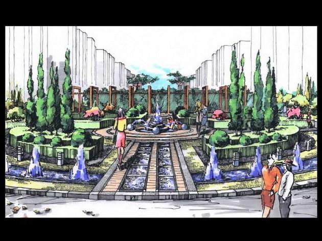 2007景观手绘效果图,园林手绘效果图经典之作