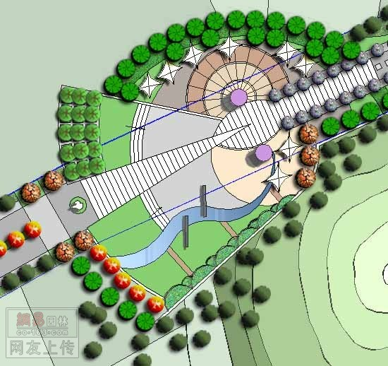 平面图一()   休闲广场效果图纸()   某休闲广场规划设计总平