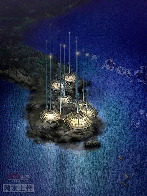 一组建筑的概念设计