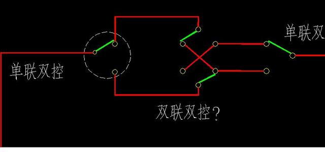 双控电灯开关接线图,三控 五控电灯开关接线图