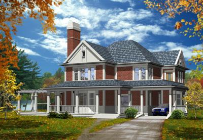 别墅建筑效果图