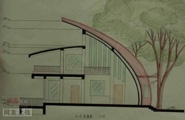 公园茶室设计 手绘 绘图 孙振浩