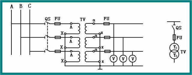是不是可以选用3只三个单相电压互感器接成y0/y0形接线,变比为10/0.