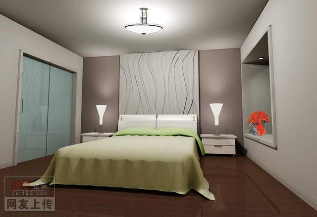 家装室内设计效果图经典实例集 卧室 土木在线论坛