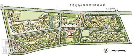 一个小区景观规划设计总平面图,欢迎大家点评 土木在线论坛