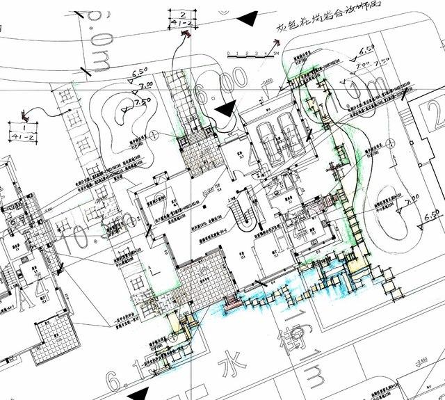 上海锦绣江南颐和园景观设计概念分析(部分手绘)