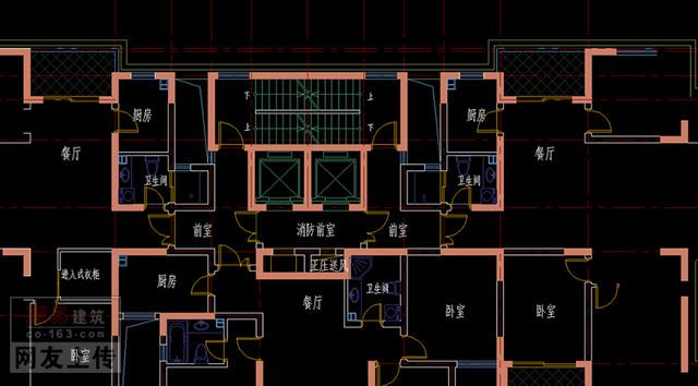 高层住宅楼梯及消防电梯前室的问题