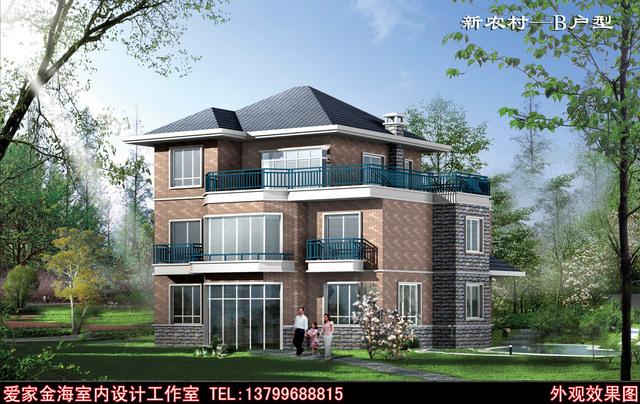 急求湖北农村二层楼房平面设计图及效果图