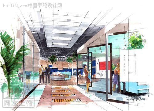 售房处室内设计手绘效果图  -陈红卫手绘作品