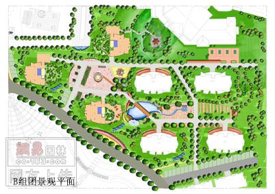 一个小区景观规划设计总平面图,欢迎大家点评