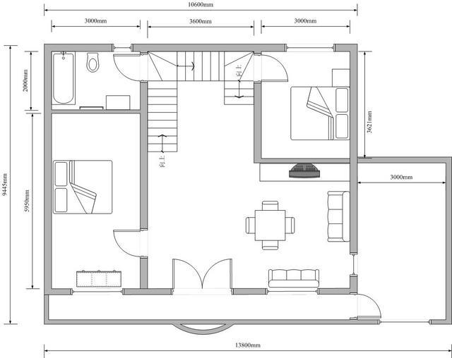 拜求农村房屋建筑(小二层)设计图纸图片1