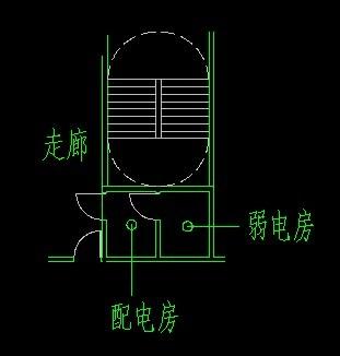 强电井与弱电井的位置,门中门可以吗 见图