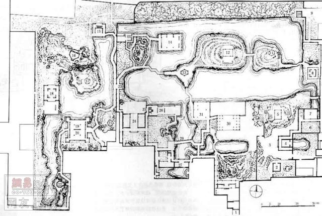 苏州拙政园总平面图