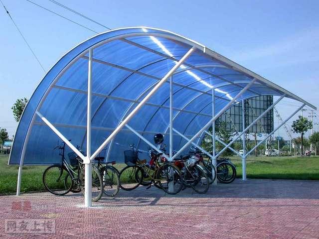某工业学院自行车棚设计效果图
